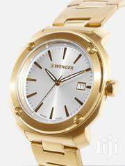 Edge Index Gold Dial Stainless Steel Men's Watch | Watches for sale in Greater Accra, Kwashieman