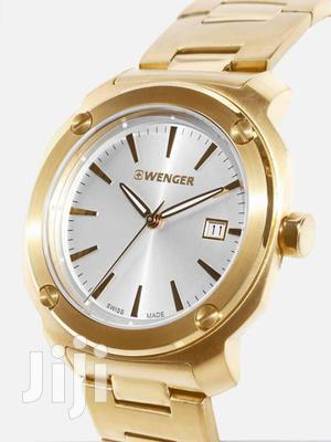 Edge Index Gold Dial Stainless Steel Men's Watch
