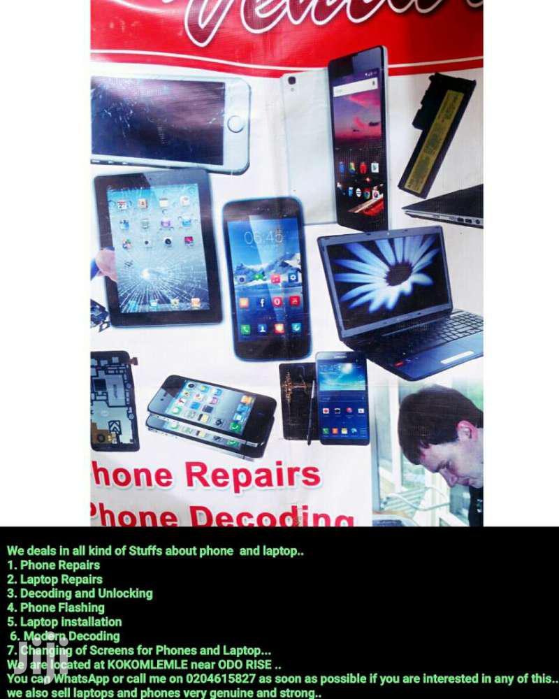 Phones And Laptop Repairs.