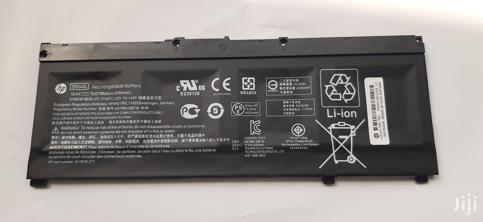 Original HP Battery Sr04xl for HP Omen 15-Ce000 | Computer Accessories  for sale in Accra New Town, Greater Accra, Ghana
