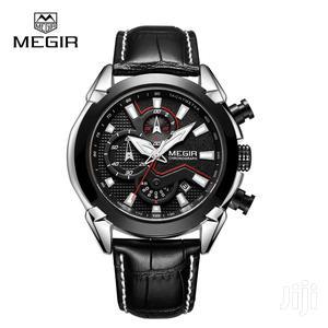Men's MEGIR Top Brand Luxury Leather Army Quartz Watch   Watches for sale in Greater Accra, Accra Metropolitan