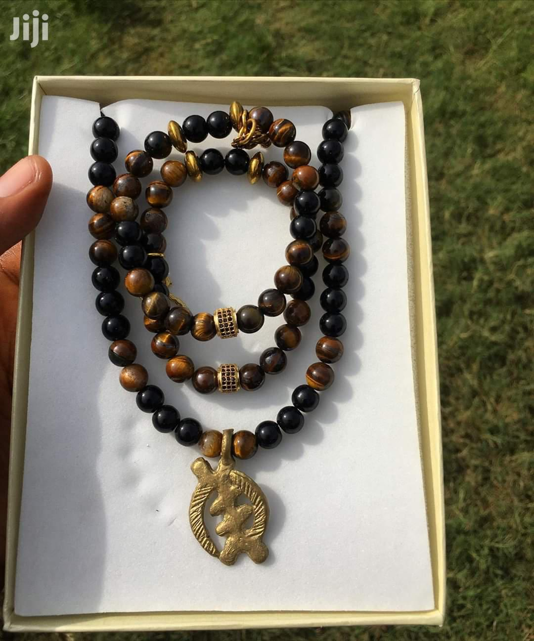 Adinkra Beaded Necklace