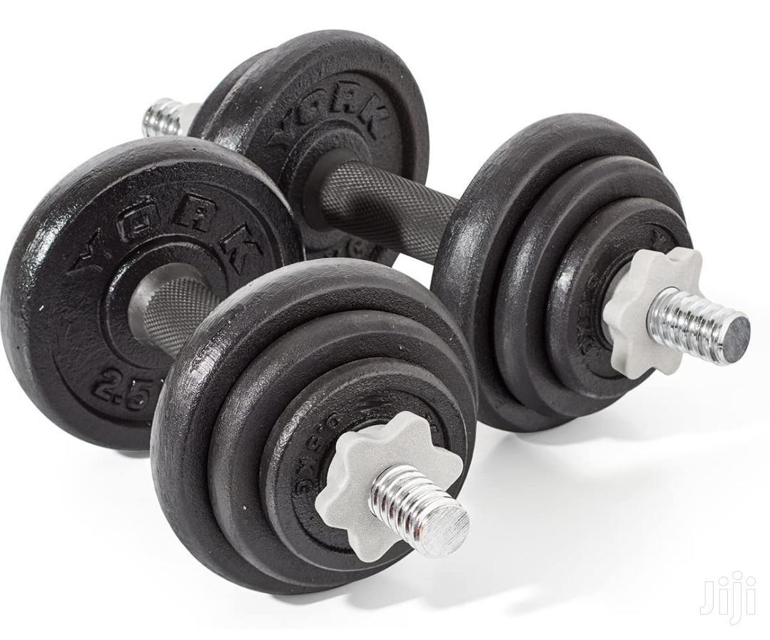 York Fitness 20Kg Dumbbells