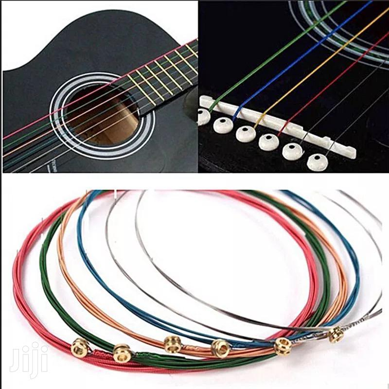 Rainbow Colored Guitar Strings