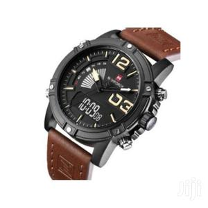 Naviforce Leather Digital Analog Wrist Watch – Brown | Watches for sale in Greater Accra, East Legon