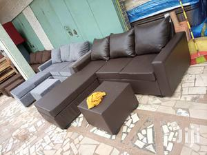 Italian Leather Sofa. Free Delivery | Furniture for sale in Greater Accra, Abelemkpe