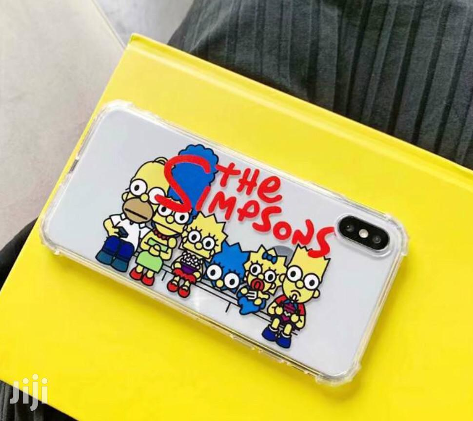 The Simpsons Transparent Case 4 iPhone Xsmax Xr Xs X 8plus 7plus 8 7 | Accessories for Mobile Phones & Tablets for sale in Kotobabi, Greater Accra, Ghana
