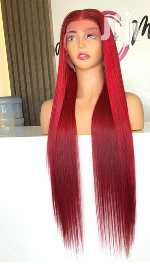 30 Inches Burgundy Colour Luxury Human Hair | Hair Beauty for sale in Greater Accra, Osu