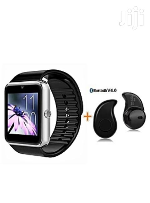 Bluetooth Smart Watch With Free Headset | Smart Watches & Trackers for sale in Sunyani Municipal, Brong Ahafo, Ghana