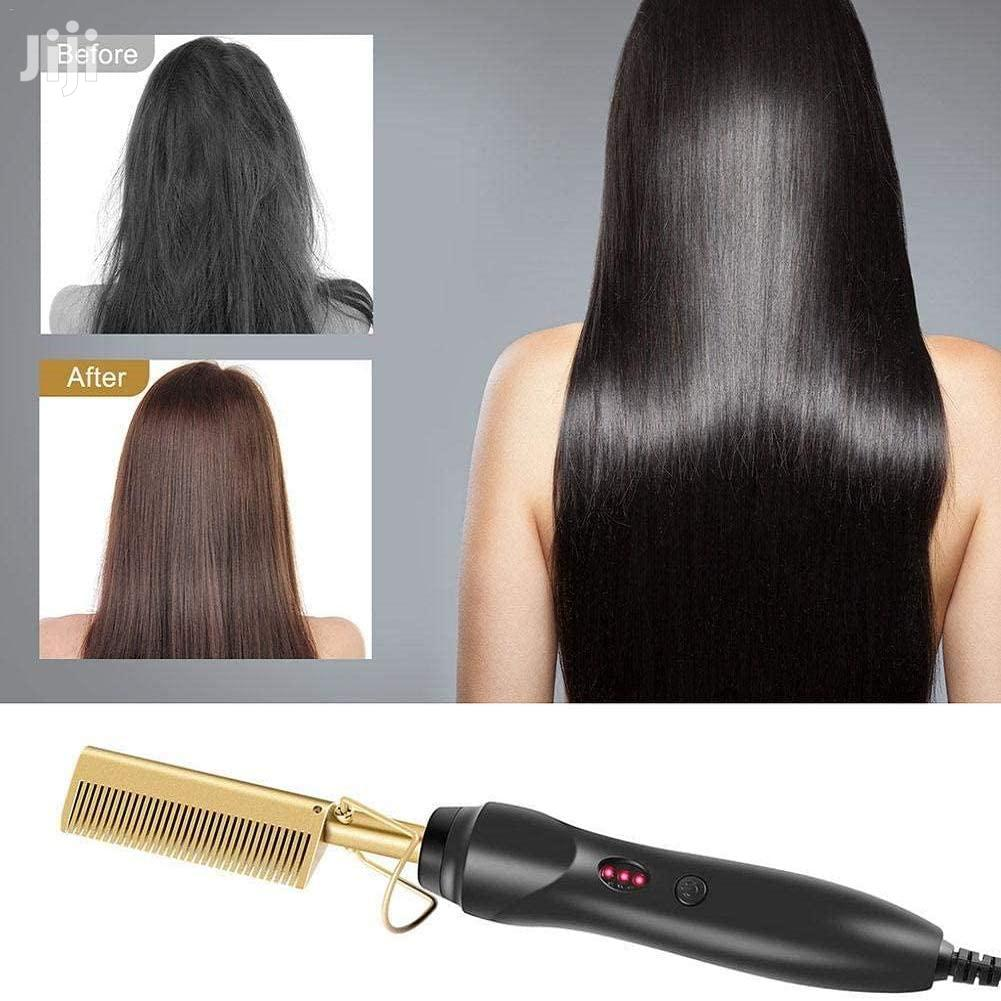 Electric Hot Comb / Hot Stretcher For Hair Styling