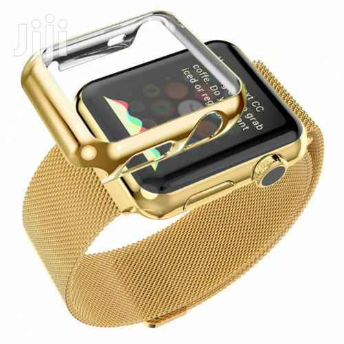 Stainless Steel Strap Iwatch Band+Adapter+Case Cover for Apple Watch