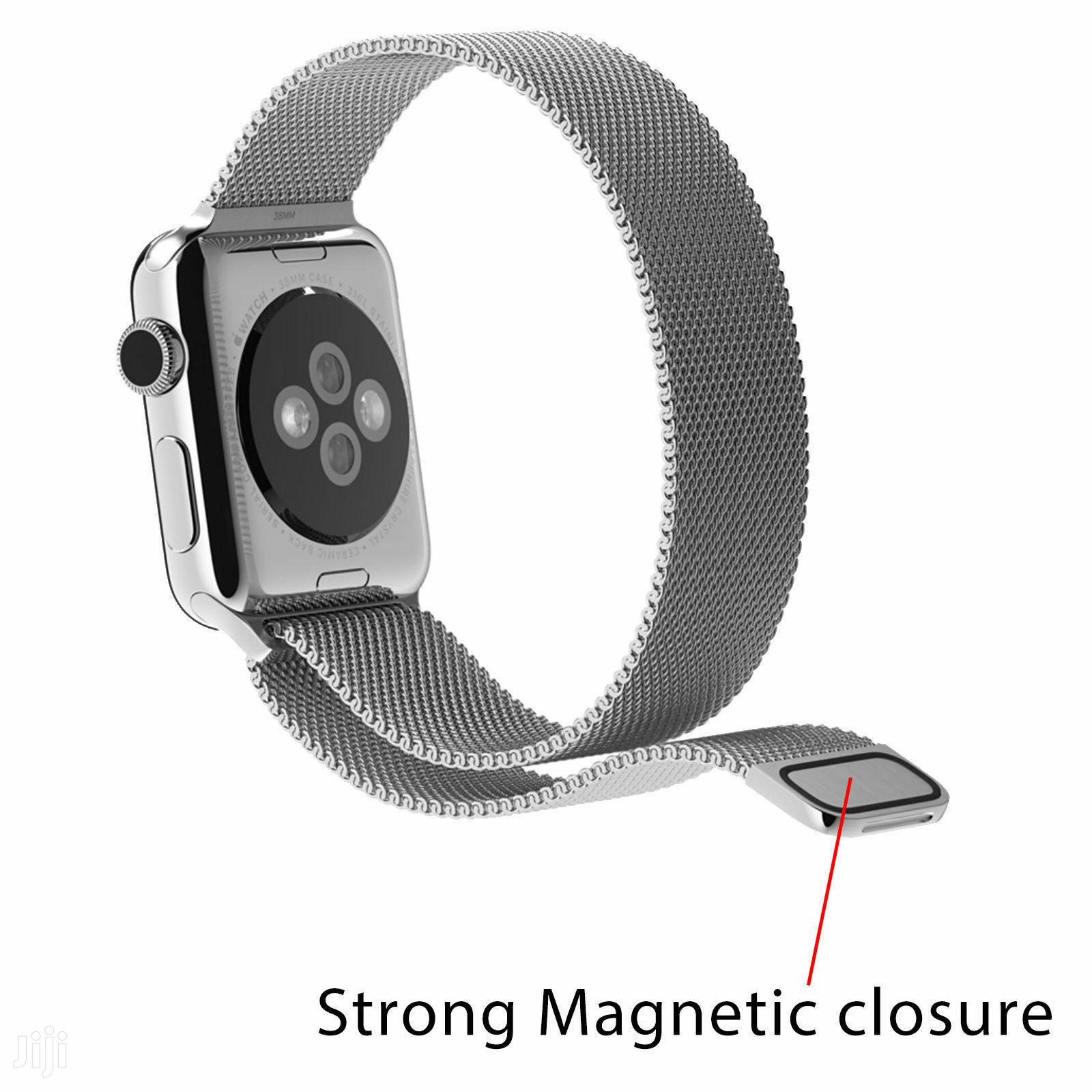 Stainless Steel Strap Iwatch Band+Adapter+Case Cover for Apple Watch | Smart Watches & Trackers for sale in Achimota, Greater Accra, Ghana