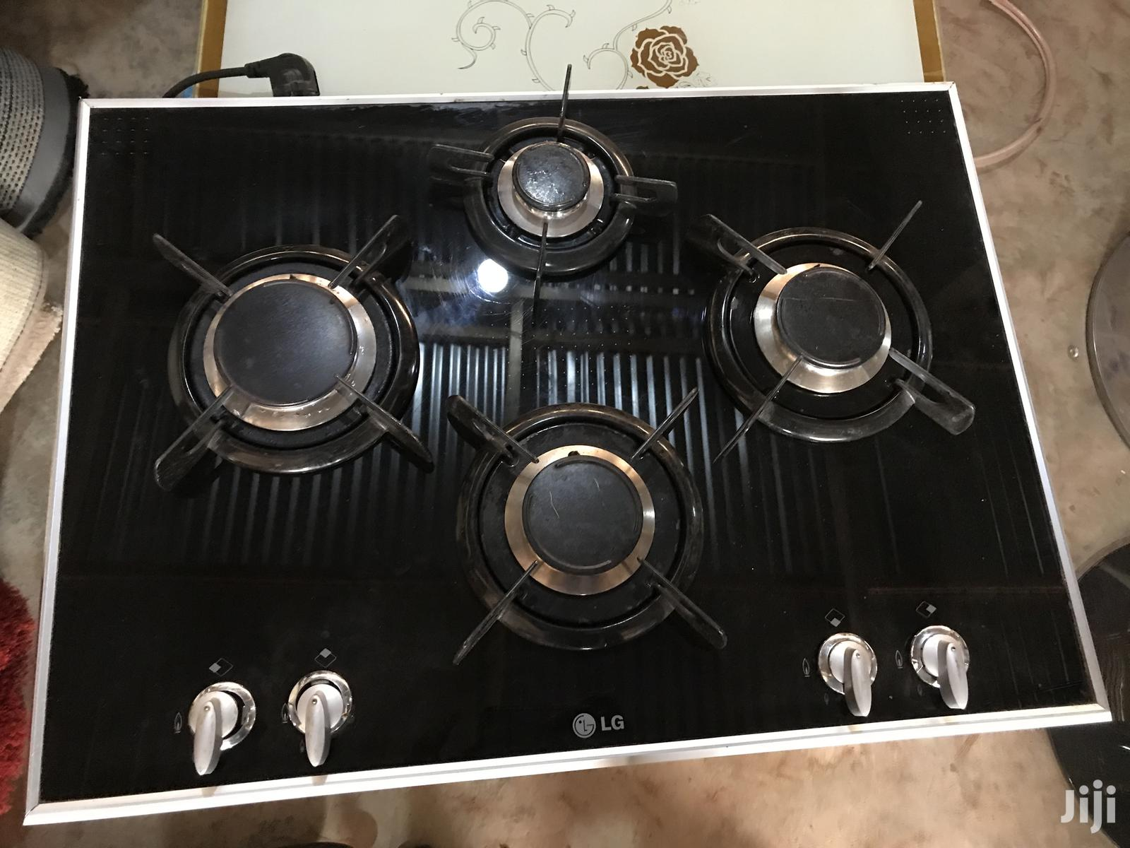 Home Used LG 4burners Gas Stove (Glass Top) | Kitchen Appliances for sale in Adenta Municipal, Greater Accra, Ghana