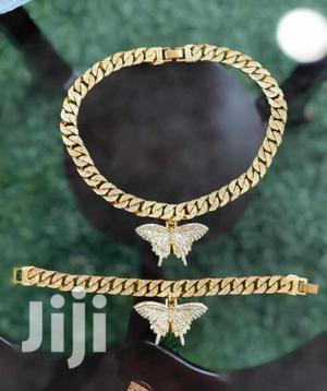 Cuban Butterfly Iced Out Necklace   Jewelry for sale in Greater Accra, Achimota
