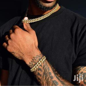 Cuban Iced Out Necklace   Jewelry for sale in Greater Accra, Achimota