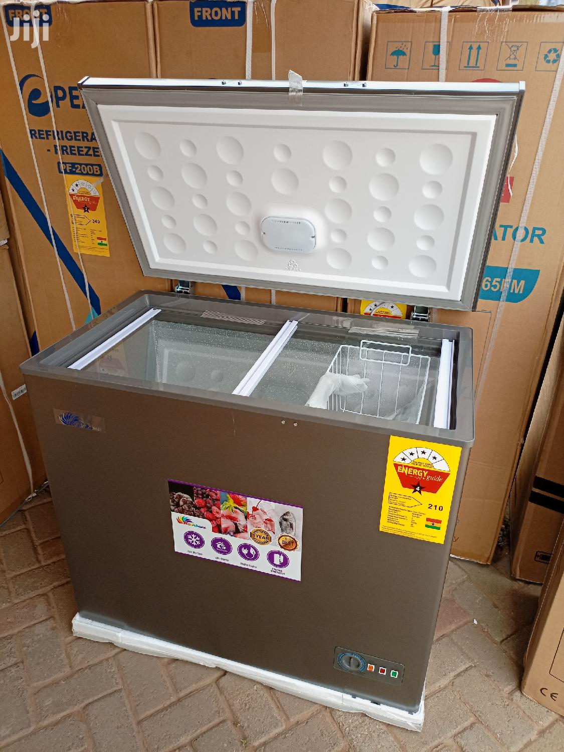 Rainbow 200ltr Chest Freezer+ Glass Cover | Kitchen Appliances for sale in Achimota, Greater Accra, Ghana