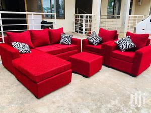 Red Whine Colour L Shaped Sofa Chair   Furniture for sale in Greater Accra, Adabraka