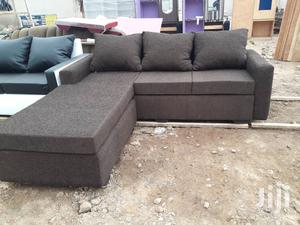 High Quality Black Colour L-Shaped Sofa Chair With Centre Ta | Furniture for sale in Greater Accra, Accra Metropolitan