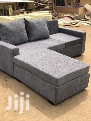 L-Shaped Sofa With Centre Table Made With High Quality Fabri | Furniture for sale in Greater Accra, Adabraka