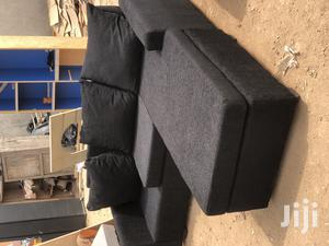 Quality Black Colour L-Shaped Sofa With Centre Table | Furniture for sale in Greater Accra, Adabraka