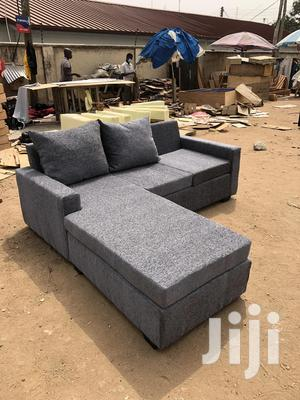 Gray/Ash Colour L-Shaped Sofa With Centre Table | Furniture for sale in Greater Accra, Adabraka