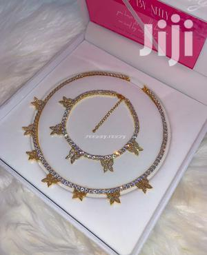 Butterfly Tennis Necklace With Bracelet   Jewelry for sale in Greater Accra, Achimota