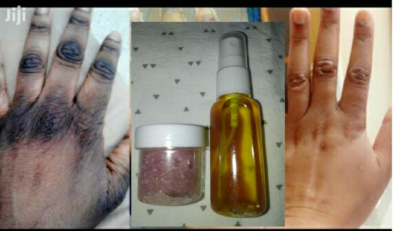 Dark Knuckle Remover Oil and Scrub | Skin Care for sale in Osu, Greater Accra, Ghana