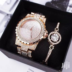 Luxury Ladies Watch Iced Out Watch With Bracelet   Watches for sale in Greater Accra, Nii Boi Town