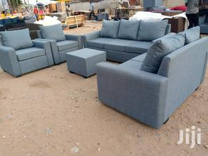 Made With Quality Material Ash /Gray Colour L-Shaped Sofa | Furniture for sale in Greater Accra, Adabraka