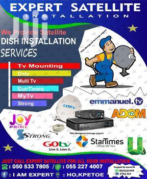 Expert Satellite Installation | Building & Trades Services for sale in Volta Region, Agotime Ziope