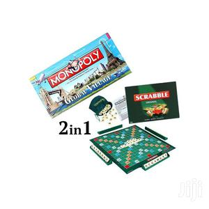 2-In-1 Scrabble + Monopoly Board Game | Books & Games for sale in Greater Accra, East Legon