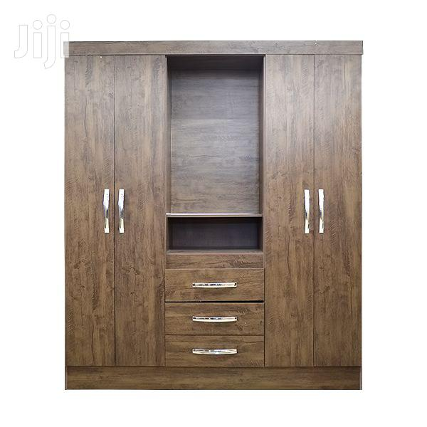 Wooden Wardrobe 4doors 3drawers | Furniture for sale in Adenta Municipal, Greater Accra, Ghana