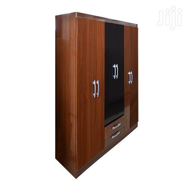 Wooden Wardrobe 6 Doors, 2 Drawers