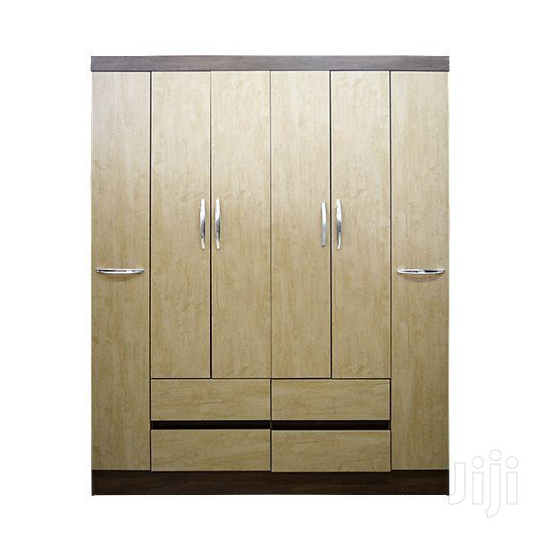 Wooden Wardrobe 6 Doors 4 Drawers