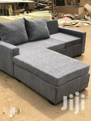 Gray Colour L-Shaped Sofa With Centre Table | Furniture for sale in Greater Accra, Adabraka