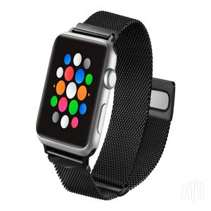 Platinum Mesh Band For Apple Watch 42/44mm   Smart Watches & Trackers for sale in Greater Accra, Kokomlemle