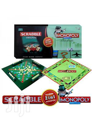 2-In-1 Scrabble + Monopoly Board Game | Books & Games for sale in Greater Accra, Nii Boi Town