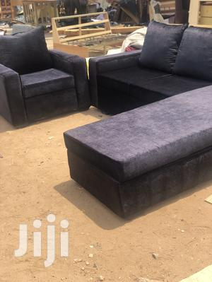 Made With Quality Wood Material L-Shaped Sofa | Furniture for sale in Greater Accra, Adabraka
