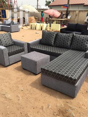 5 Seater Fabric L Shaped Sofa Chair - Grey | Furniture for sale in Greater Accra, Adabraka