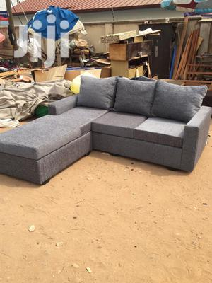 Quality 5 Seater Fabric L Shaped Sofa Chair - Grey | Furniture for sale in Greater Accra, Adabraka