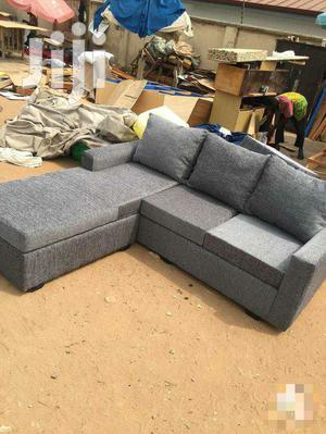 Gray L-Shape Sofas | Furniture for sale in Greater Accra, Adabraka