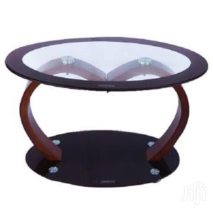 Tempered Glass Round Coffee Table – Brown/Black   Furniture for sale in Greater Accra, East Legon