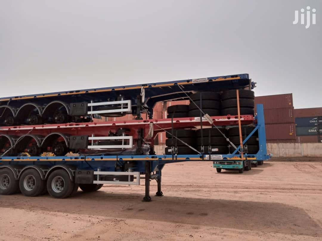 4 Axles GT Flatbed Semi Trailers for Sale
