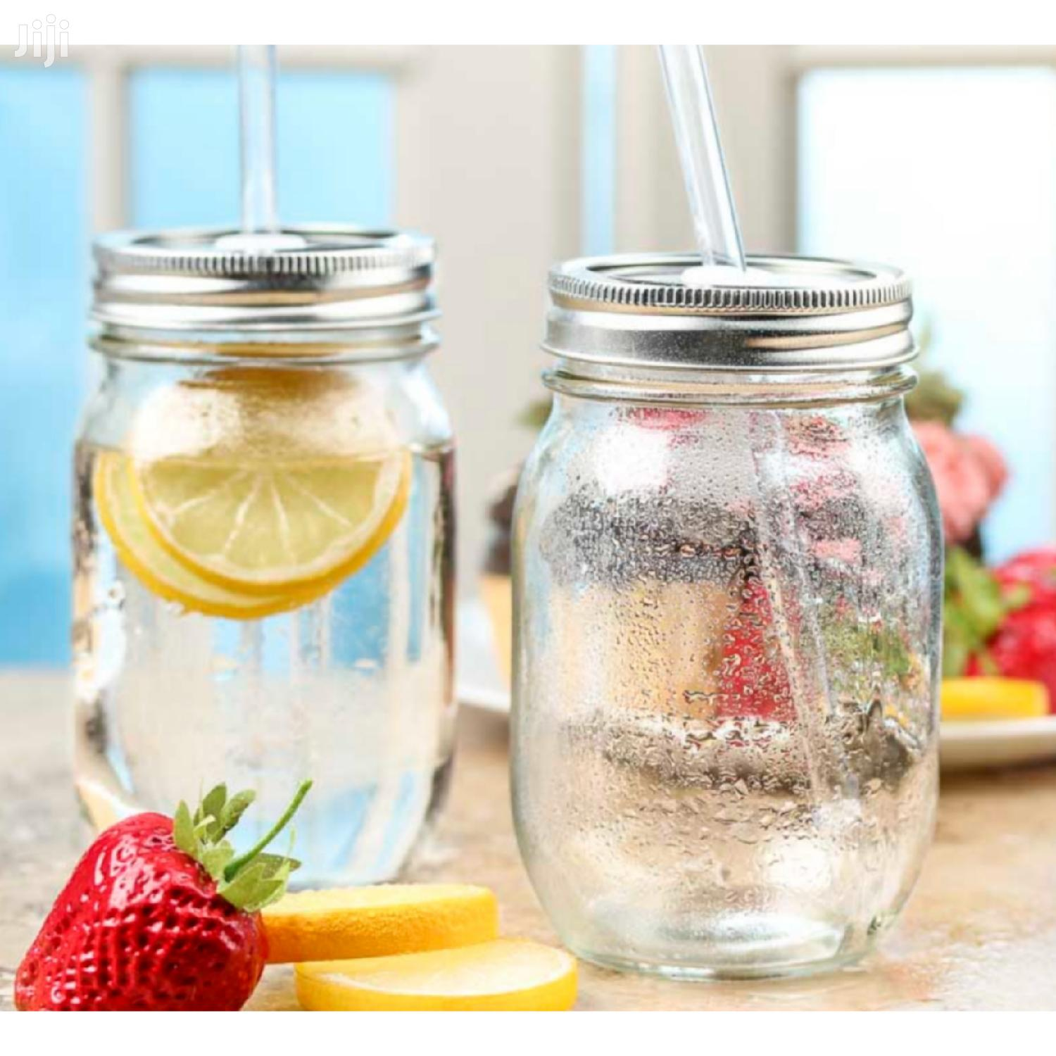 Mason Jar With Lid and Straw | Kitchen & Dining for sale in East Legon, Greater Accra, Ghana