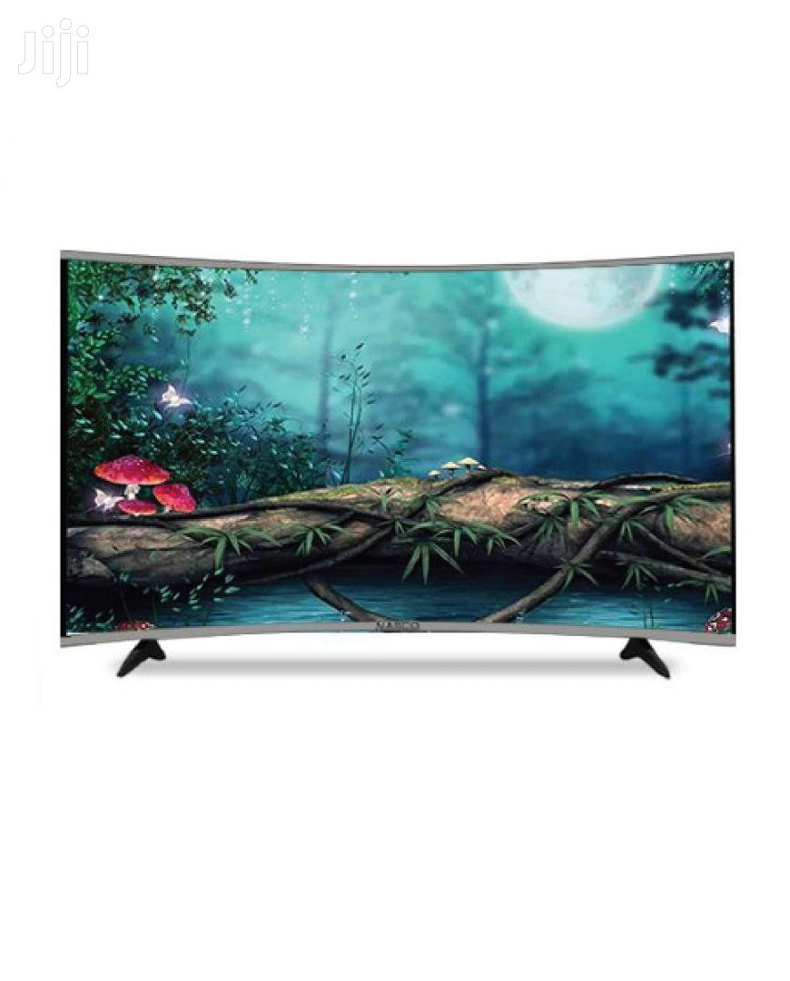 "NASCO 55"" LED Digital Smart Satellite Curved TV"
