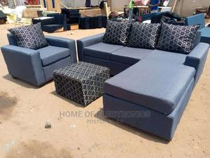 Available Made With Quality Wood Material L-Shaped Sofa | Furniture for sale in Greater Accra, Adabraka