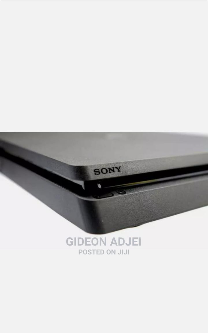 Sony Playstation 4 Slim Console - Jet Black | Video Game Consoles for sale in Kwashieman, Greater Accra, Ghana