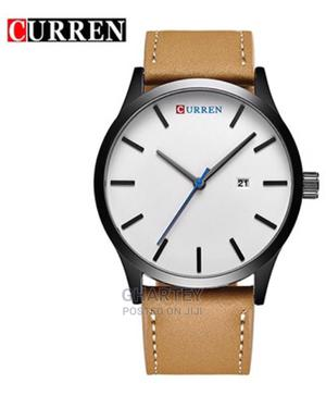 CURREN 8214 Fashion Leather Strap Men Quartz Watch   Watches for sale in Greater Accra, Achimota