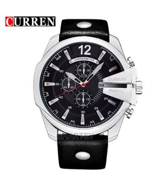 Curren Men Analog Military Sports Watch Quartz Leather Strap   Watches for sale in Greater Accra, Achimota