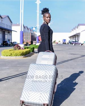 Quality 2 Set Fiber Silver Luggage With 4 Wheels | Bags for sale in Greater Accra, Kokomlemle